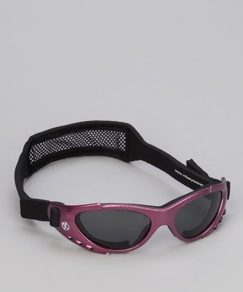 Dark Lavender & Black Xtreme Sunglasses & Strap - Boys