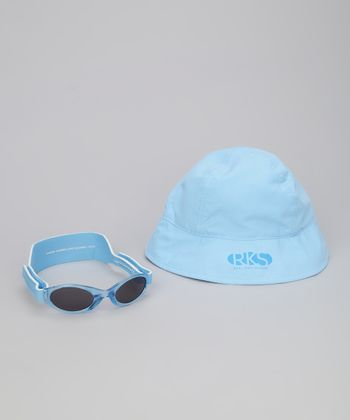 Light Blue Sunglasses & Sunhat - Infant