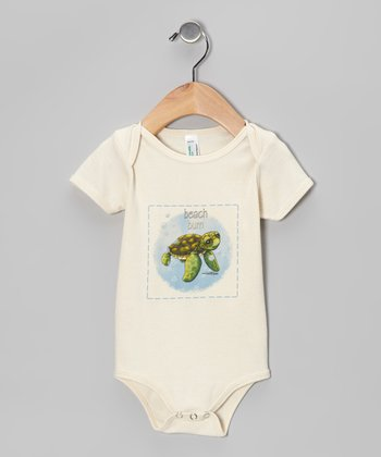 Natural 'Beach Bum' Organic Bodysuit - Infant