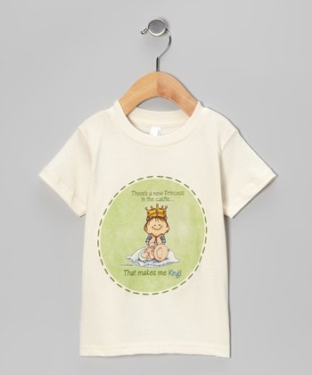 Natural 'That Makes Me King' Big Brother Organic Tee - Toddler