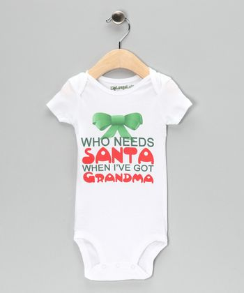 White 'Who Needs Santa' Bodysuit - Infant