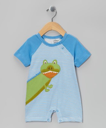 Blue Alligator Organic Romper - Infant