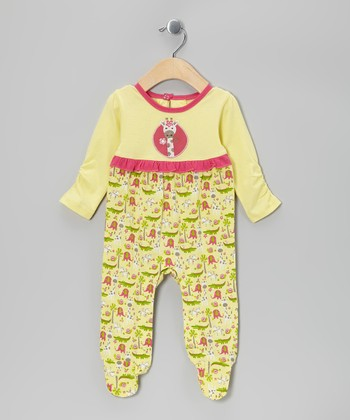 Yellow Jungle Organic Footie - Infant