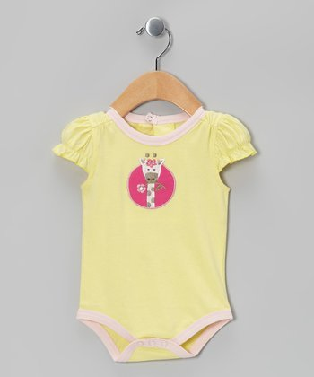 Yellow Ruffle Organic Bodysuit - Infant