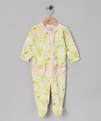 Yellow Organic Footie - Infant