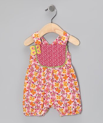 Orange Butterfly Organic Shortalls - Infant