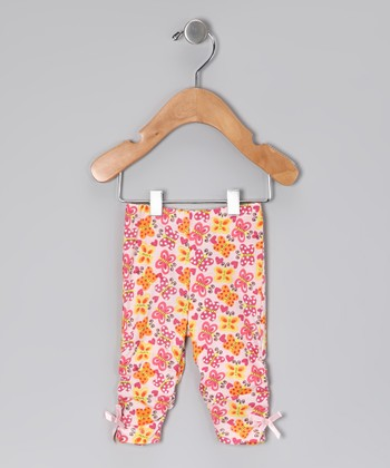 Pink Butterfly Organic Leggings - Toddler