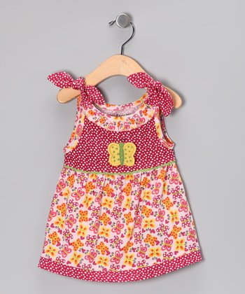 Orange Butterfly Organic Swing Top - Toddler