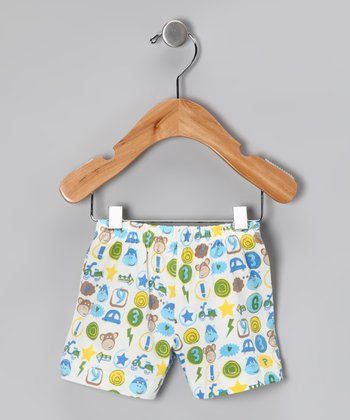 Blue Monkey Organic Shorts - Infant & Toddler