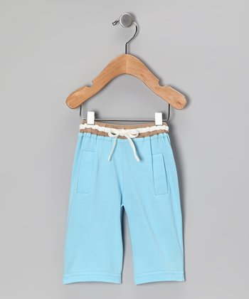 Light Blue Organic Pants - Toddler