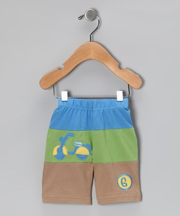 Blue Scooter Organic Shorts - Infant & Toddler