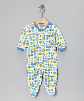 Blue Monkey Organic Footie - Infant