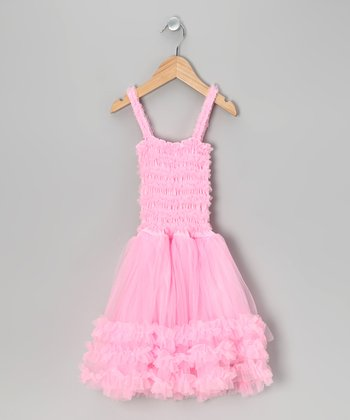 Pink Tulle Ruffle Dress - Toddler & Girls