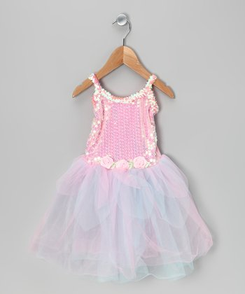 Pink & Turquoise Sequin Tutu Dress - Toddler & Girls