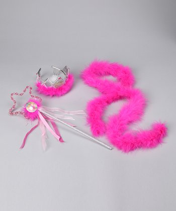 Fuchsia Feather Wand Set