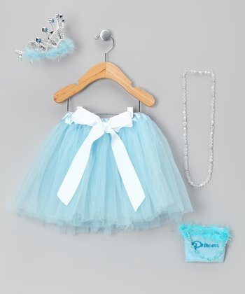 Blue 'Princess' Tutu Set - Toddler & Girls