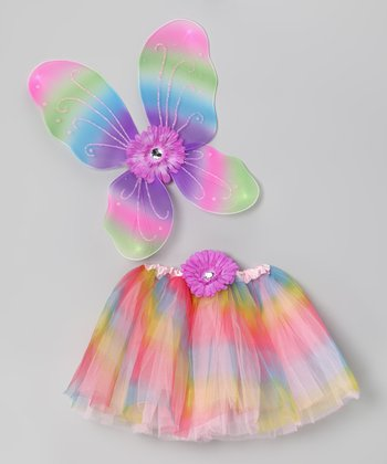 Rainbow Fairy Tutu Set - Toddler & Girls