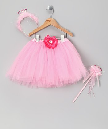 Pink Princess Tutu Set - Toddler & Girls