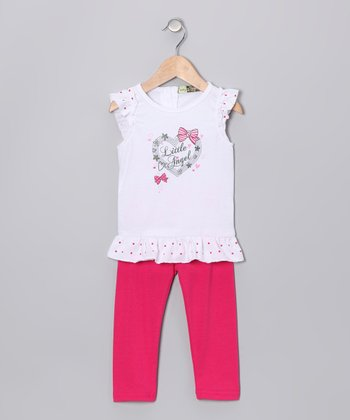 Fuchsia 'Little Angel' Tunic & Leggings - Infant & Toddler