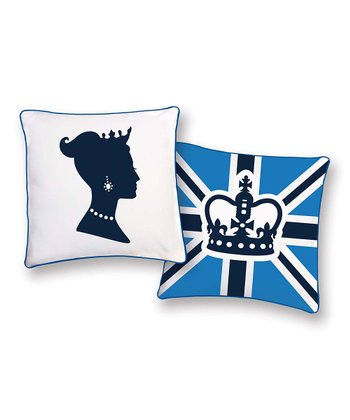 Blue & White Princess Reversible Pillow