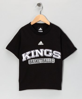 Black Adidas Sacramento Kings Tee - Kids