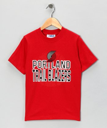 Red Portland Trail Blazers Tee - Kids