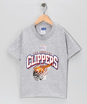 Heather Gray Los Angeles Clippers Tee - Kids