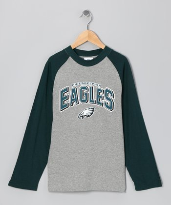 Philadelphia Eagles Raglan Tee - Boys