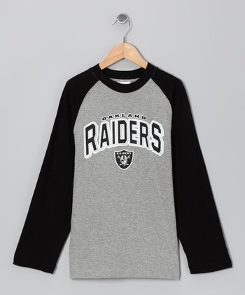 Oakland Raiders Raglan Tee - Boys