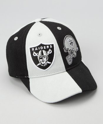 Black & Silver Oakland Raiders Baseball Cap