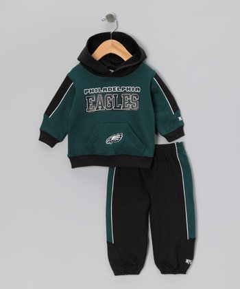 Green Philadelphia Eagles Hoodie & Sweatpants - Toddler