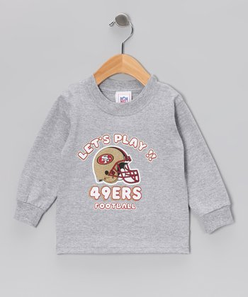 Gray San Francisco 49ers 'Let's Play' Long-Sleeve Tee - Toddler