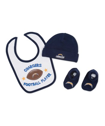 NFL Navy San Diego Chargers 'Football Player' Beanie Set