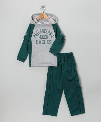 Philadelphia Eagles Layered Hoodie & Pants - Kids