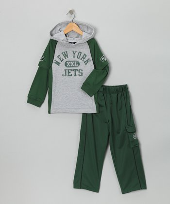 New York Jets Layered Hoodie & Pants - Kids