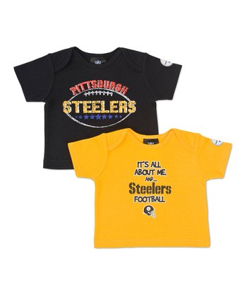 Yellow & Black Pittsburgh Steelers Tee Set - Infant