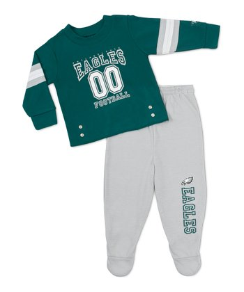 Philadelphia Eagles Snap Tee & Footie Pants - Infant