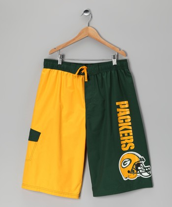 Green Bay Packers Swim Trunks - Kids