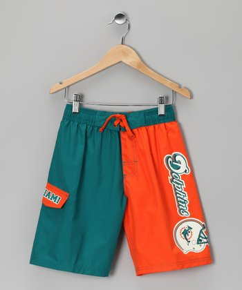 Miami Dolphins Swim Trunks - Kids