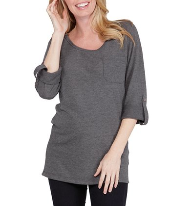 NOM Charcoal Nina Maternity Sweater