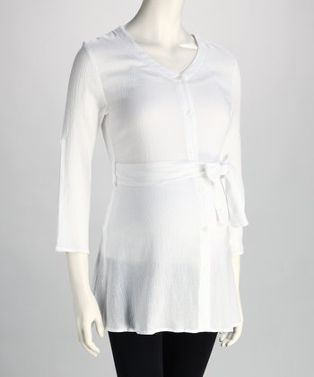White Joelle Maternity Tunic