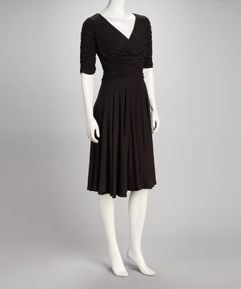 Black Ruched Shaper Dress
