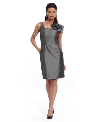 Silver Flower Shaper Dress