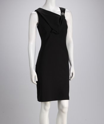 Black Sparkle Asymmetrical Shaper Dress