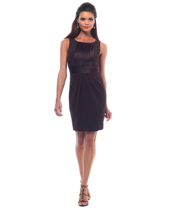 Brown Crepe Shaper Dress