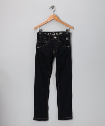 Dark Blue Wash Havana Jeans - Boys