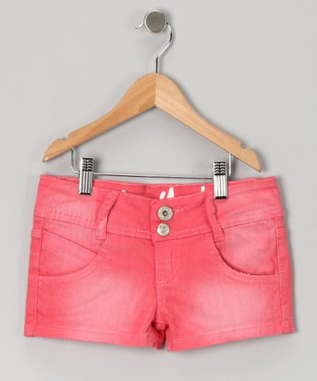 Coral New York Shorts - Girls