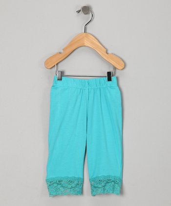 Blue Lace Bike Shorts - Girls