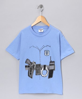 Blue Police Holster Tee - Toddler & Kids