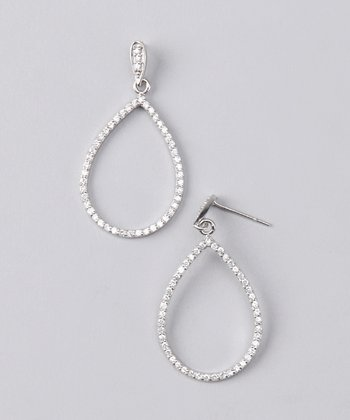 NYLA STAR Silver Teardrop Earrings